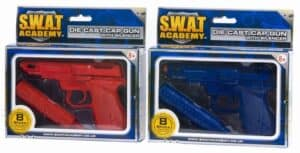 Die Cast Swat Pistol with Silencer