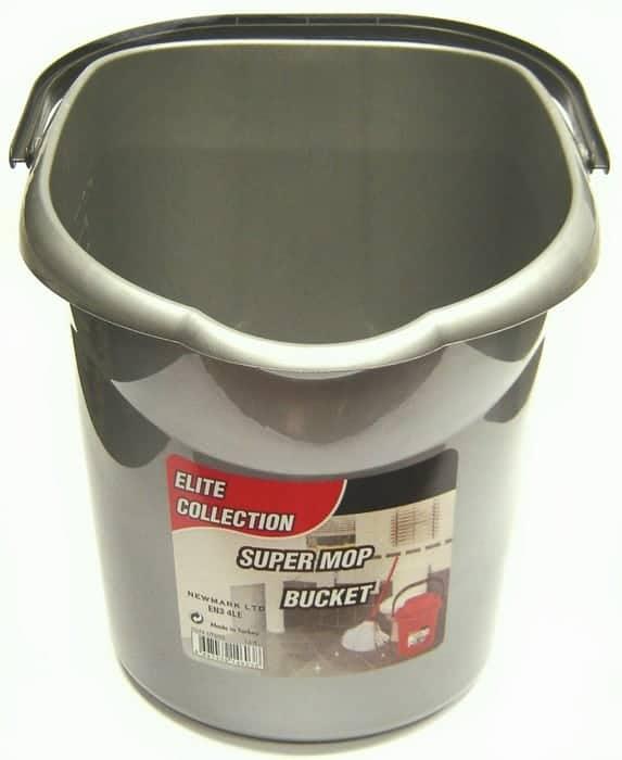 Silver Mop Bucket