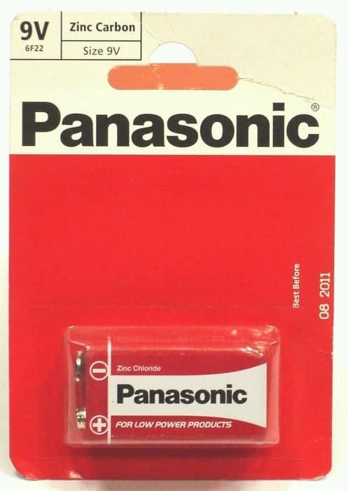 PP3 Panasonic Battery