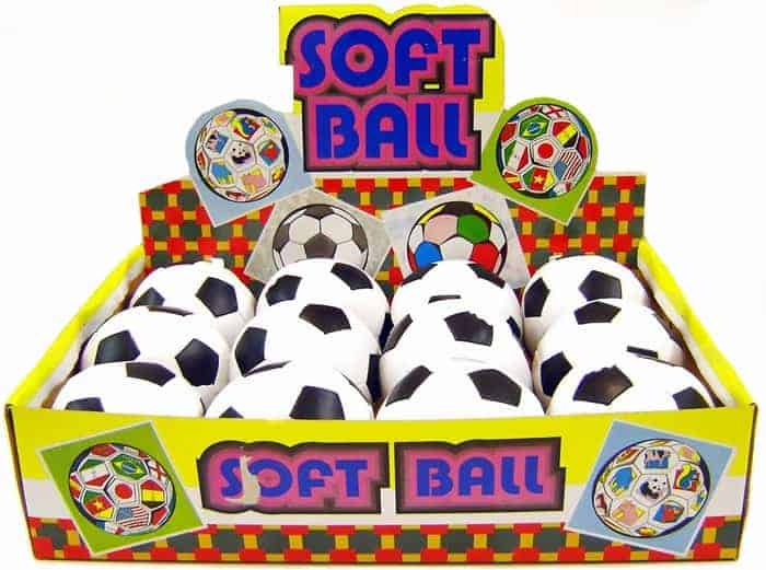 4 Inch Black & White Soft Ball