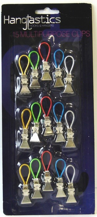 Hangtastics 15pk Multi Purpose Clips
