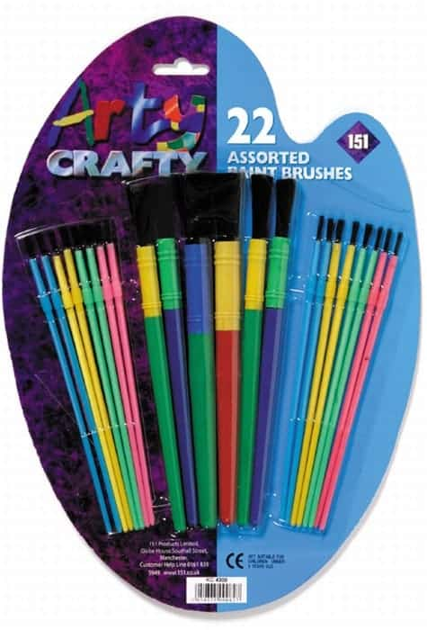 18pk Kids Paint Brush