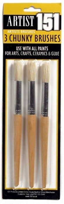 151 Products 3pk Artist Brushes