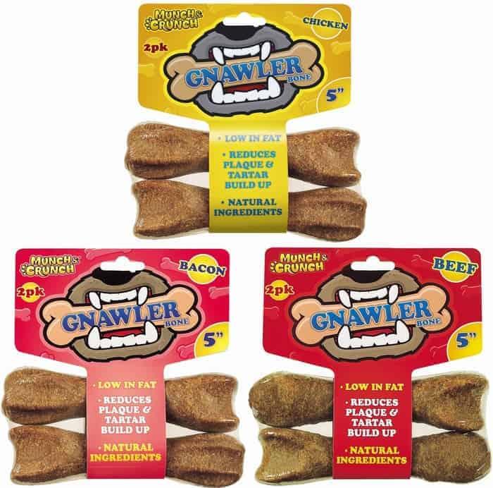 "Munch & Crunch 2pk Assorted 5"" Gnawler Bones"