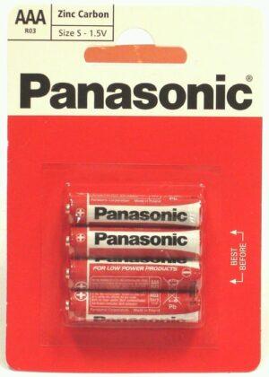 4 Pack AAA Panasonic Batteries