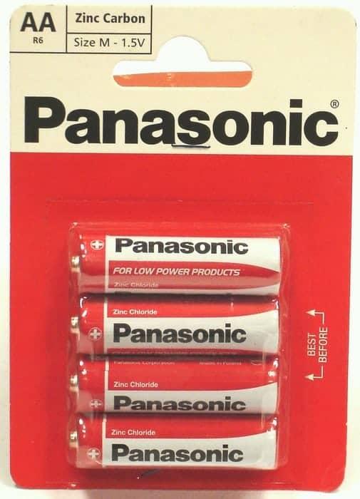 4 Pack AA Panasonic Batteries