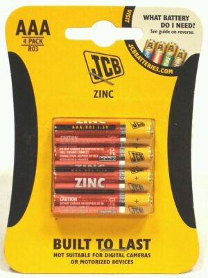 4 Pack AAA JCB Batteries
