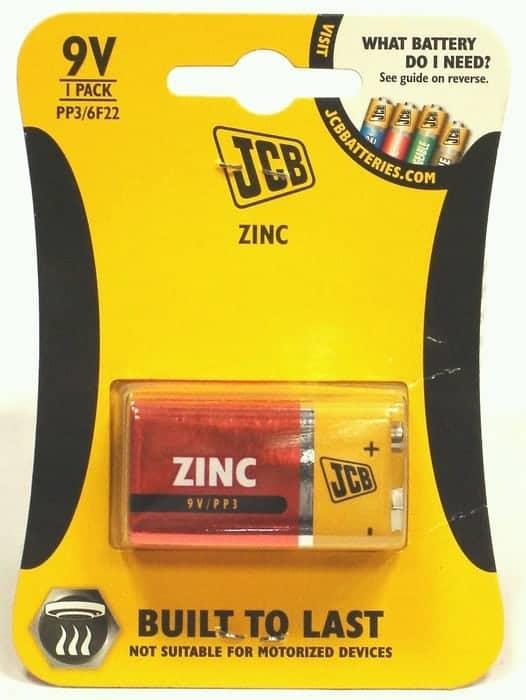 PP3 JCB Battery
