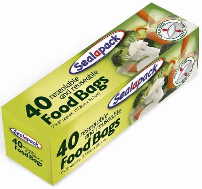 Sealapack 40pk 7x8 Food Bags