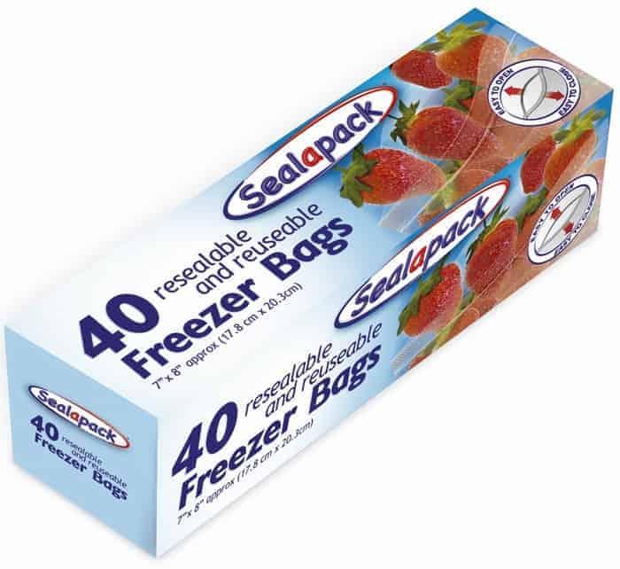 Sealapack 40pk Freezer Bags