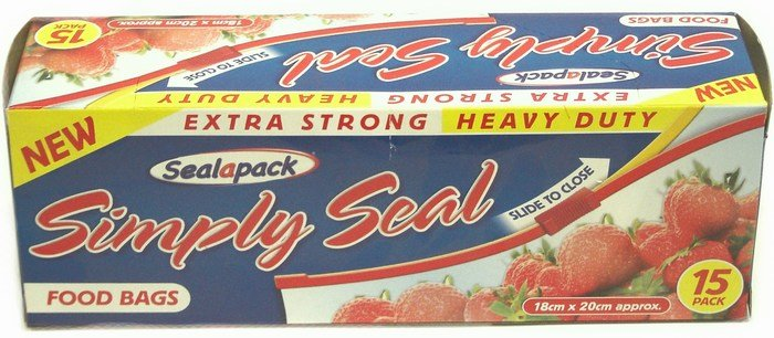 Sealapack 15pk Simply Seal Food Bags