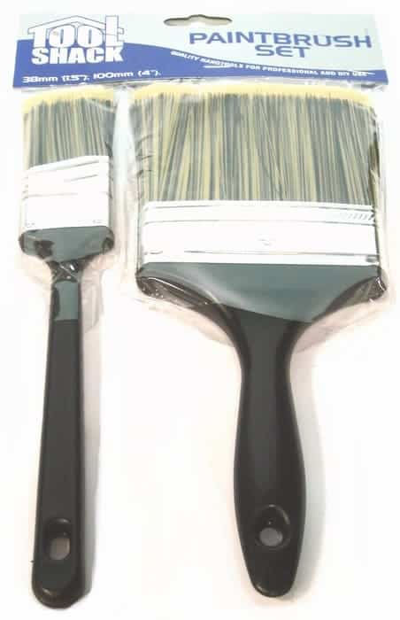 Tool Shack 2pc Paint Brush Set