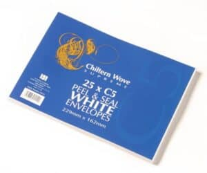 Chiltern Wove 25pk C5 White Self Seal Envelopes
