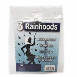 SBI Rainhoods pack of 3