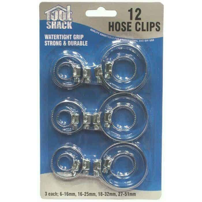 Tool Shack Hose Clips-12Pk