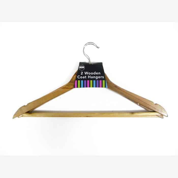 2Pk Wooden Coat Hangers