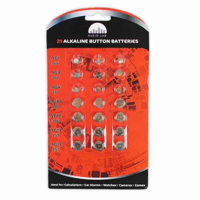 21 Alkaline Button Batteries