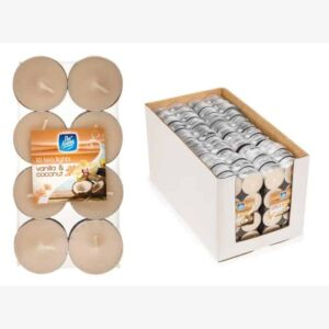 Pan Aroma Vanilla & Coconut Colour Tea-Lights 16 Pack