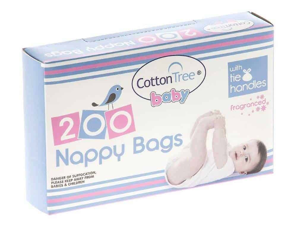 Cotton Tree 200pk Nappy Bags
