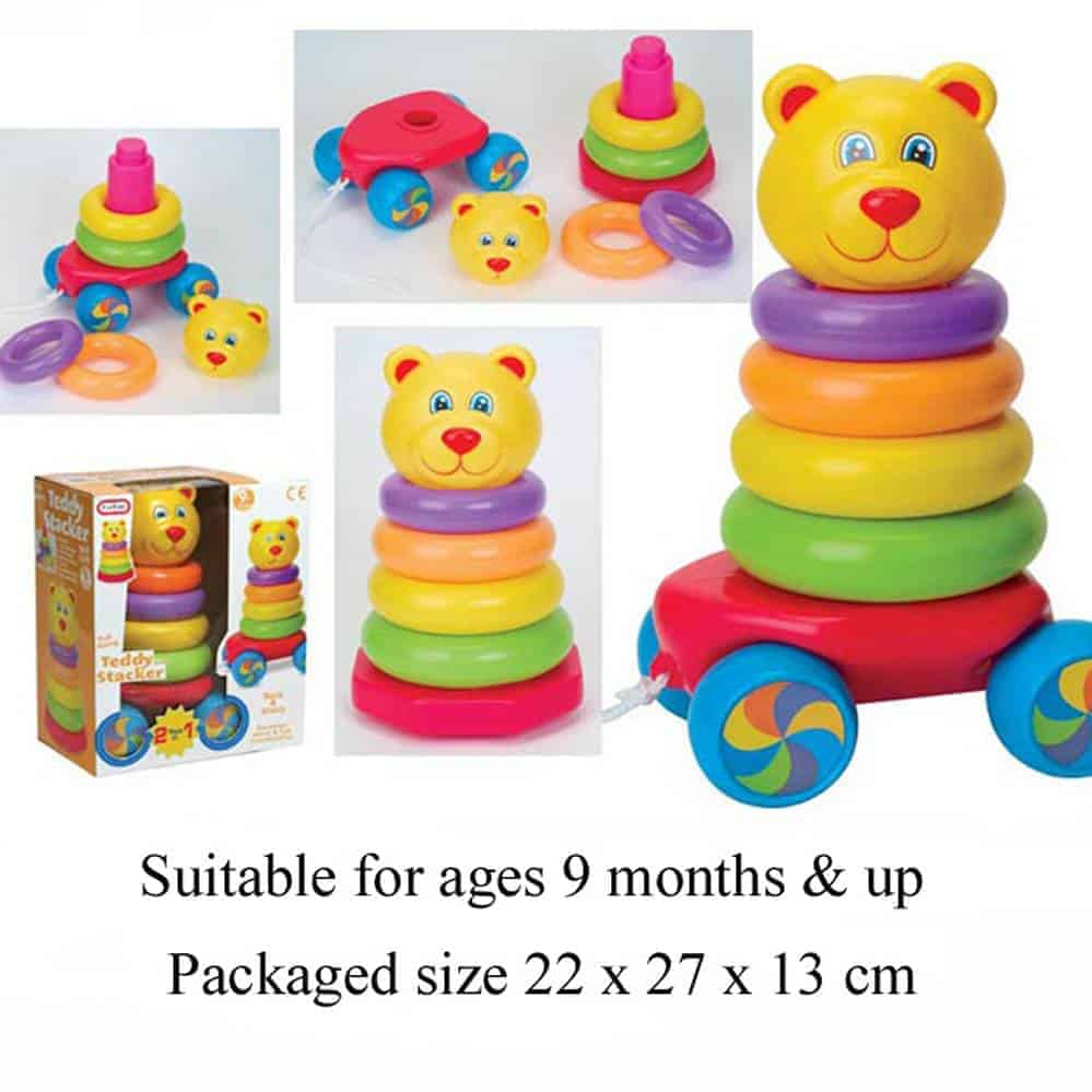 Pull Along Stacking Teddy