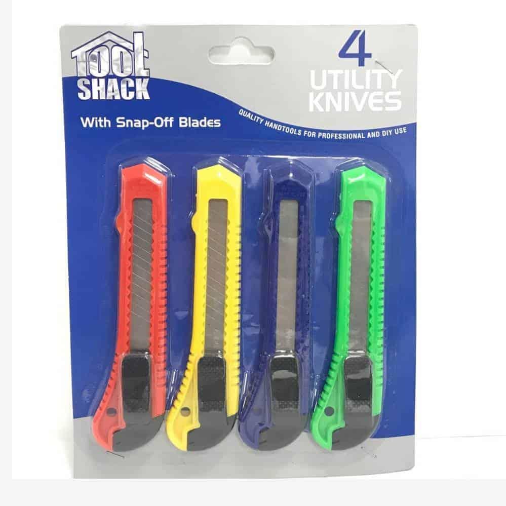 Tool Shack 4Pc Utility Knife Set
