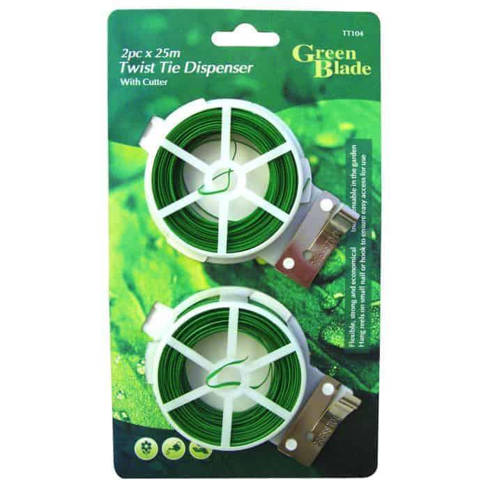 2Pc  X  25M Twist Tie Dispenser With Cutter