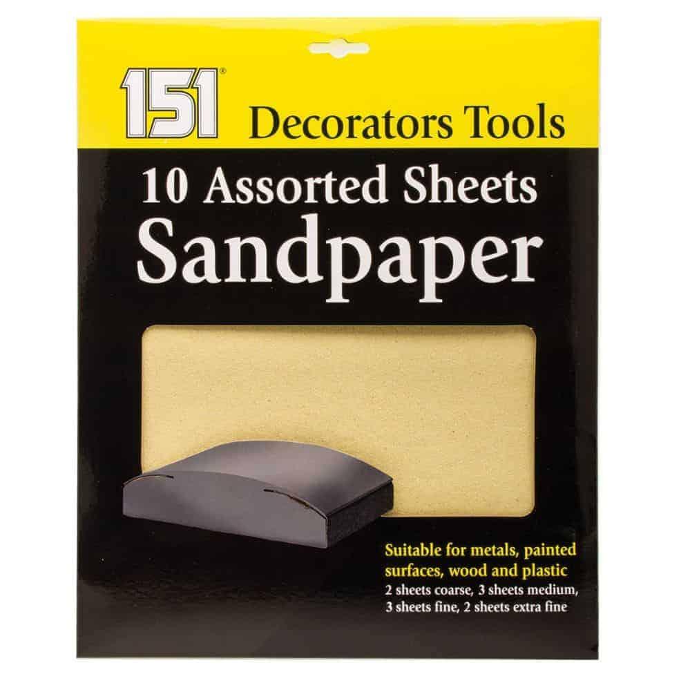 10Pk Sheets Sandpaper
