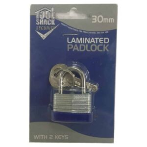 Tool Shack 30mm Laminated Padlock