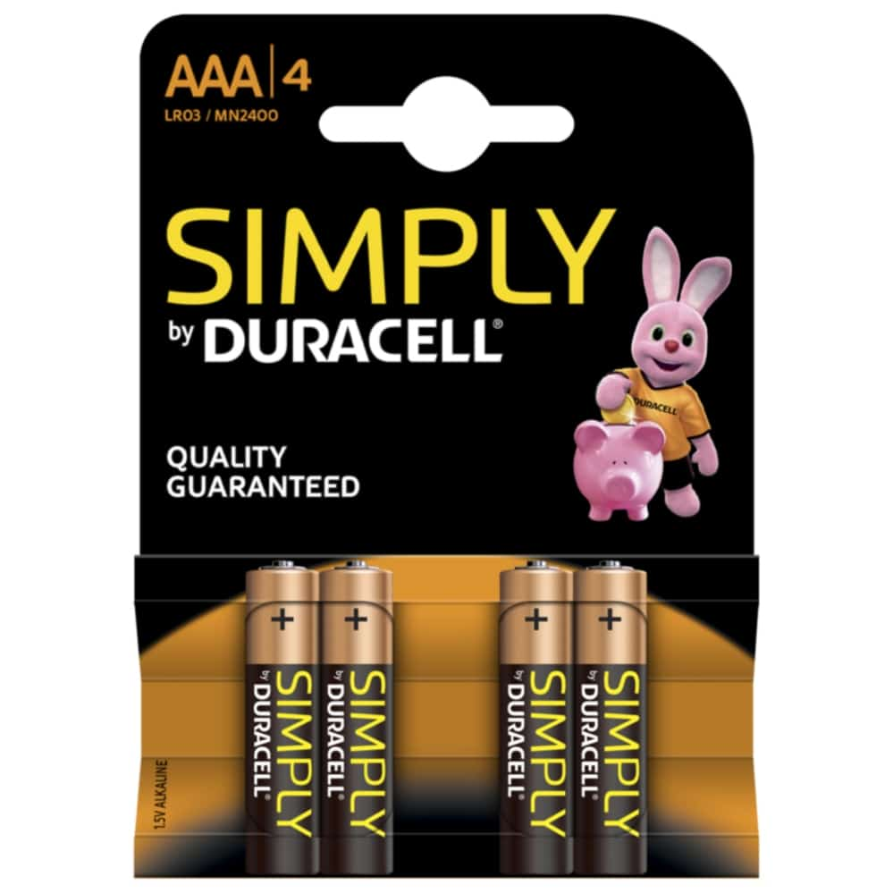 4 Pack AAA Duracell Batteries
