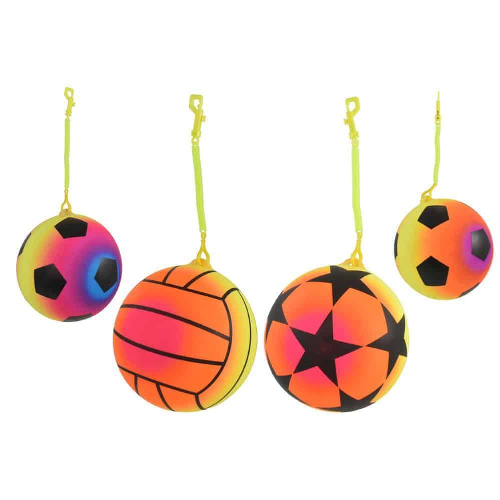 Neon Sport Balls +Chain-Asst