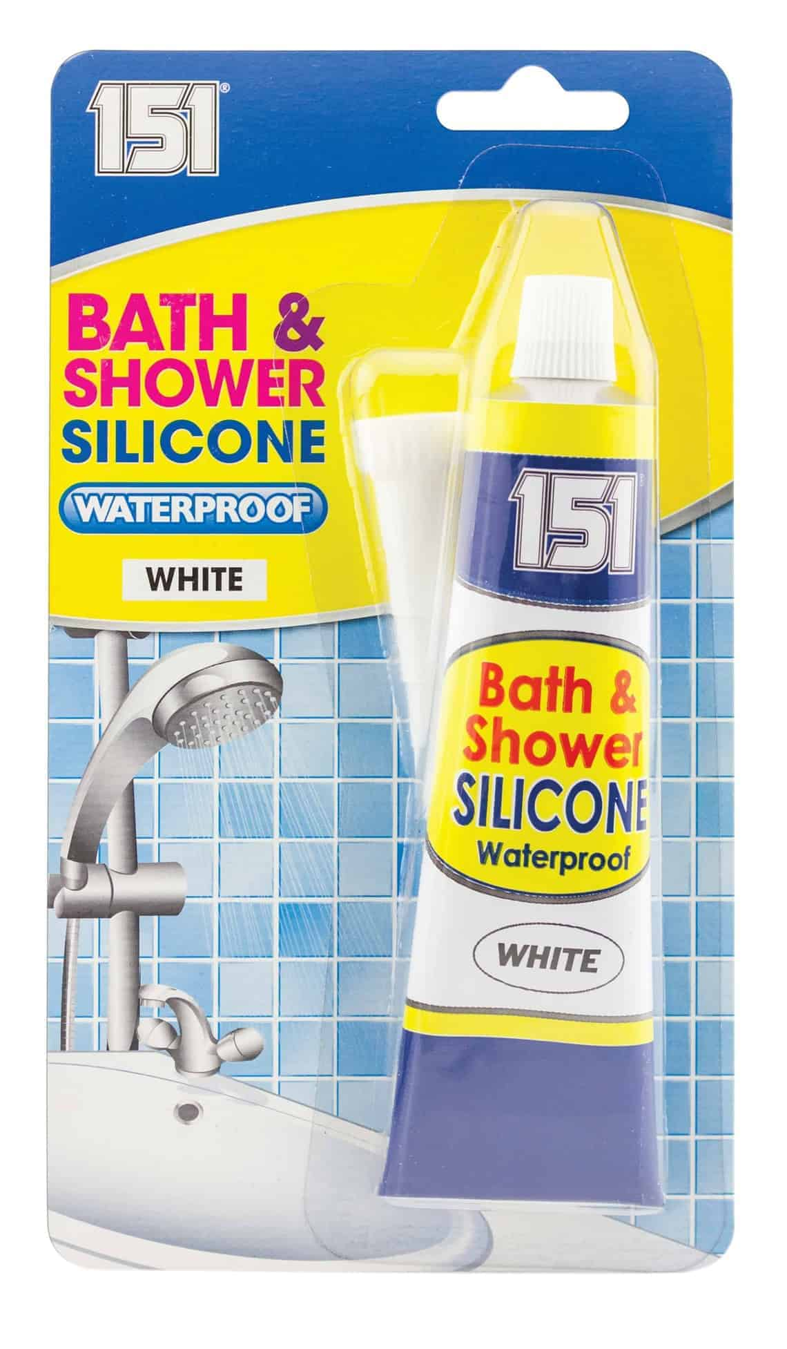 151 Products White Bath and Shower Silicone Waterproof