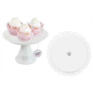 White Cake Stand 26X17 Cm