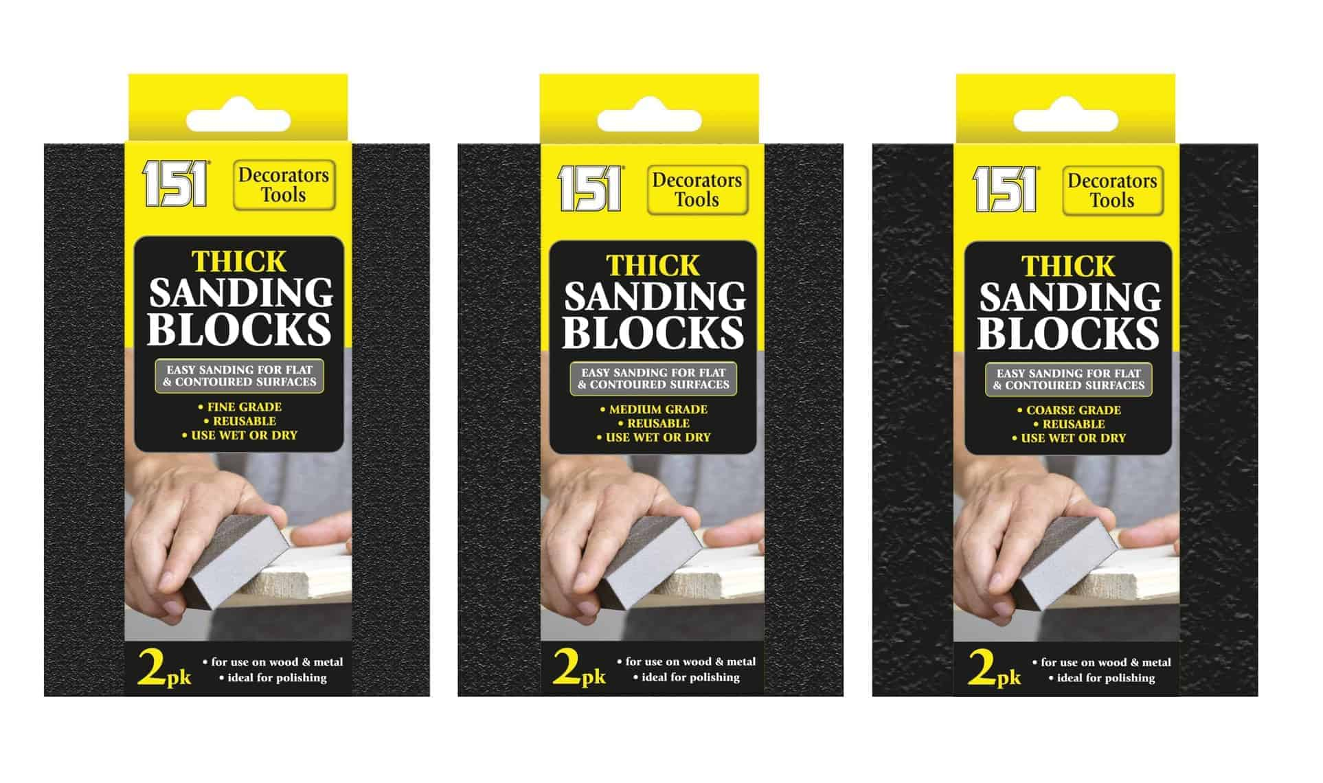 151 Products Thick Sanding Block 2Pk