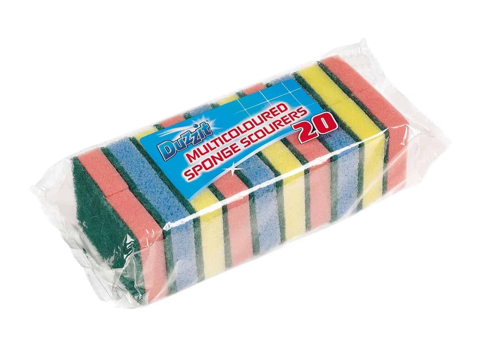 Duzzit 20pk Sponge Scourers