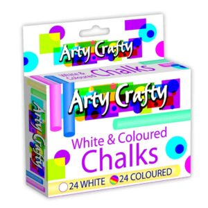 Arty Crafty 48 Pack Assorted Chalks