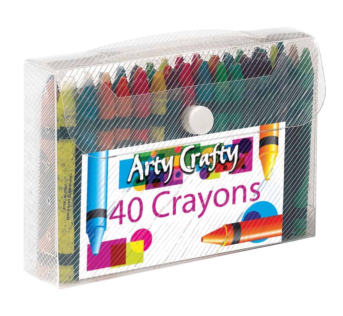 Arty Crafty 40pk Crayons