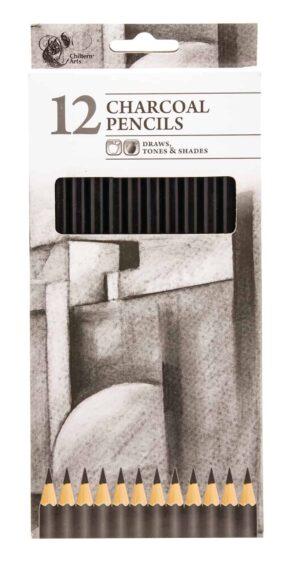 Chiltern Wove Charcoal Pencils-12Pk
