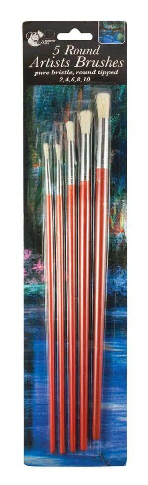 Chiltern Wove Artist Brushes-5Pk Round