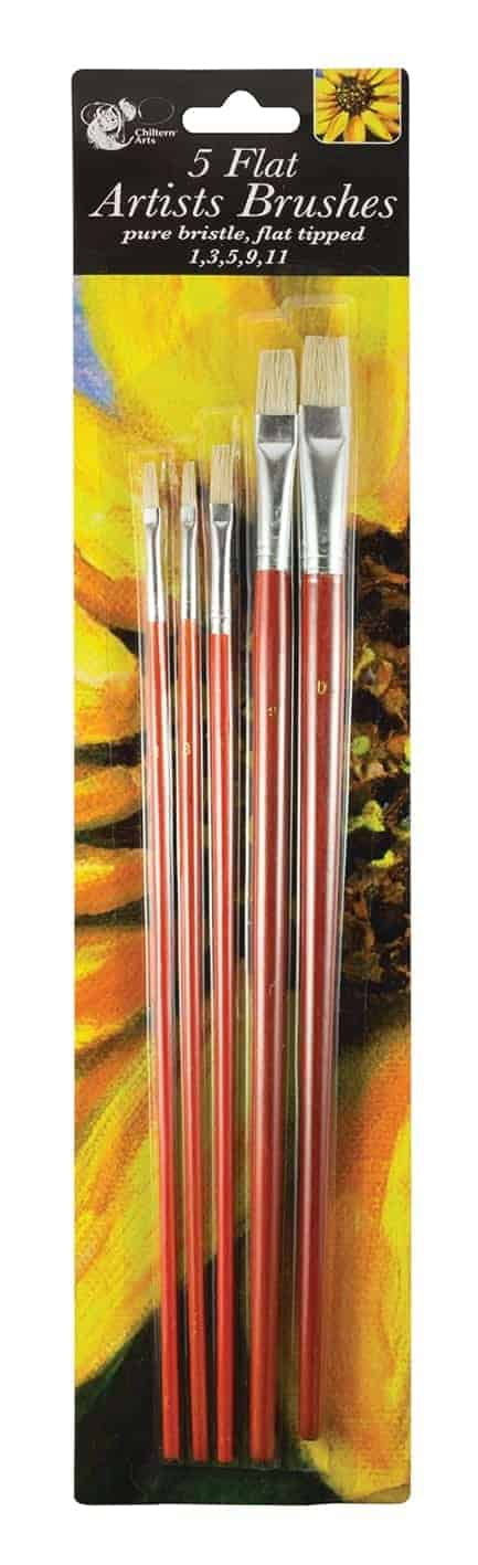 Chiltern Wove 5Pk Flat Head Artist Brushes