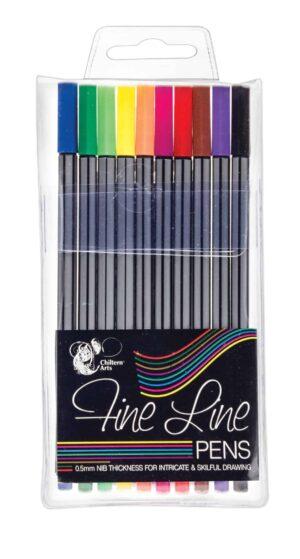 Chiltern Wove 10Pk Fineliner Pens