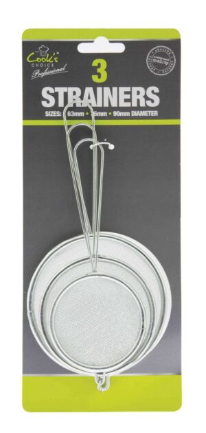 Cooks Choice 3pk Strainers
