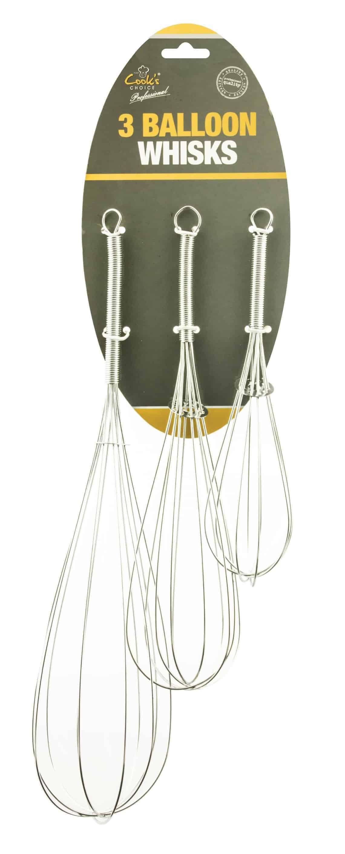 Cooks Choice 3pc Balloon Whisks