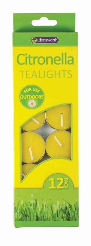 Chatsworth 12 Citronella Tealites