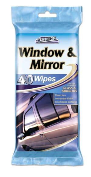 Carpride 40pk Window & Mirror Wipes