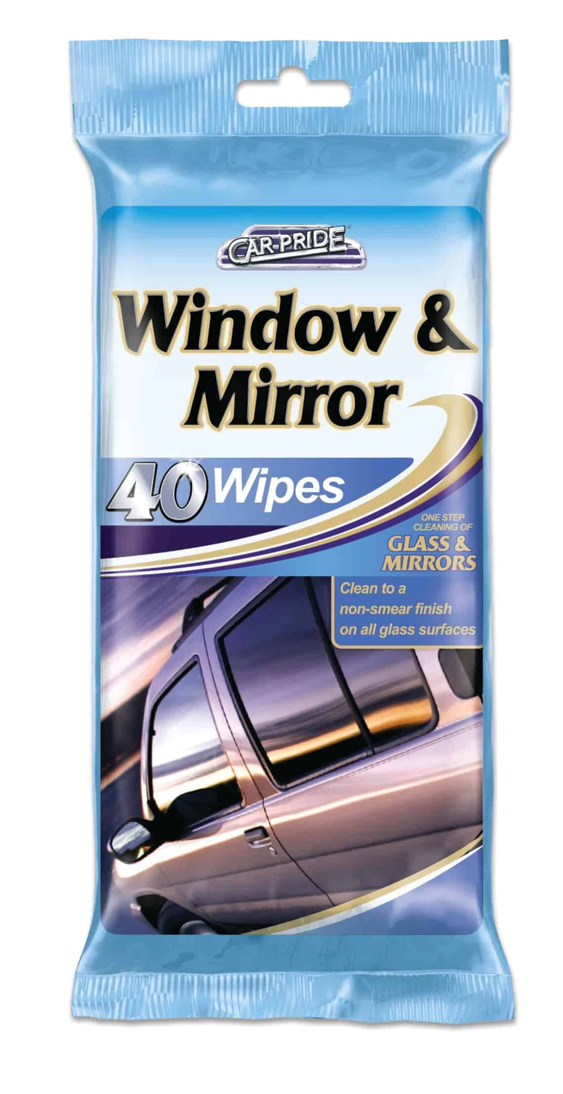 Carpride 40pk Window & Mirror Wipes