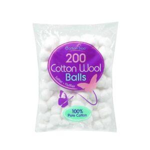 Cotton Tree 200pc White Cotton Wool Balls