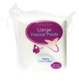 Cotton Tree Facial Pads-40Pk-Lge