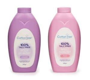 Cotton Tree Body Powder-Rose/Lavender