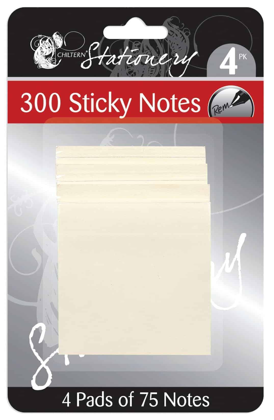 Chiltern Stationery Sticky Notes-300Pk