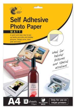 Chiltern Stationery A4 Self-Adhesive Photo Paper